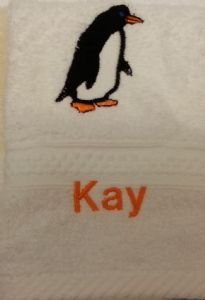 PENGUIN PERSONALISED FACE CLOTH